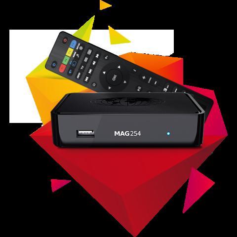Infomir MAG 254 W2 (Wifi on board) IPTV BOX