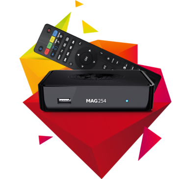 Infomir MAG 254 W2 (Wifi on board) IPTV BOX